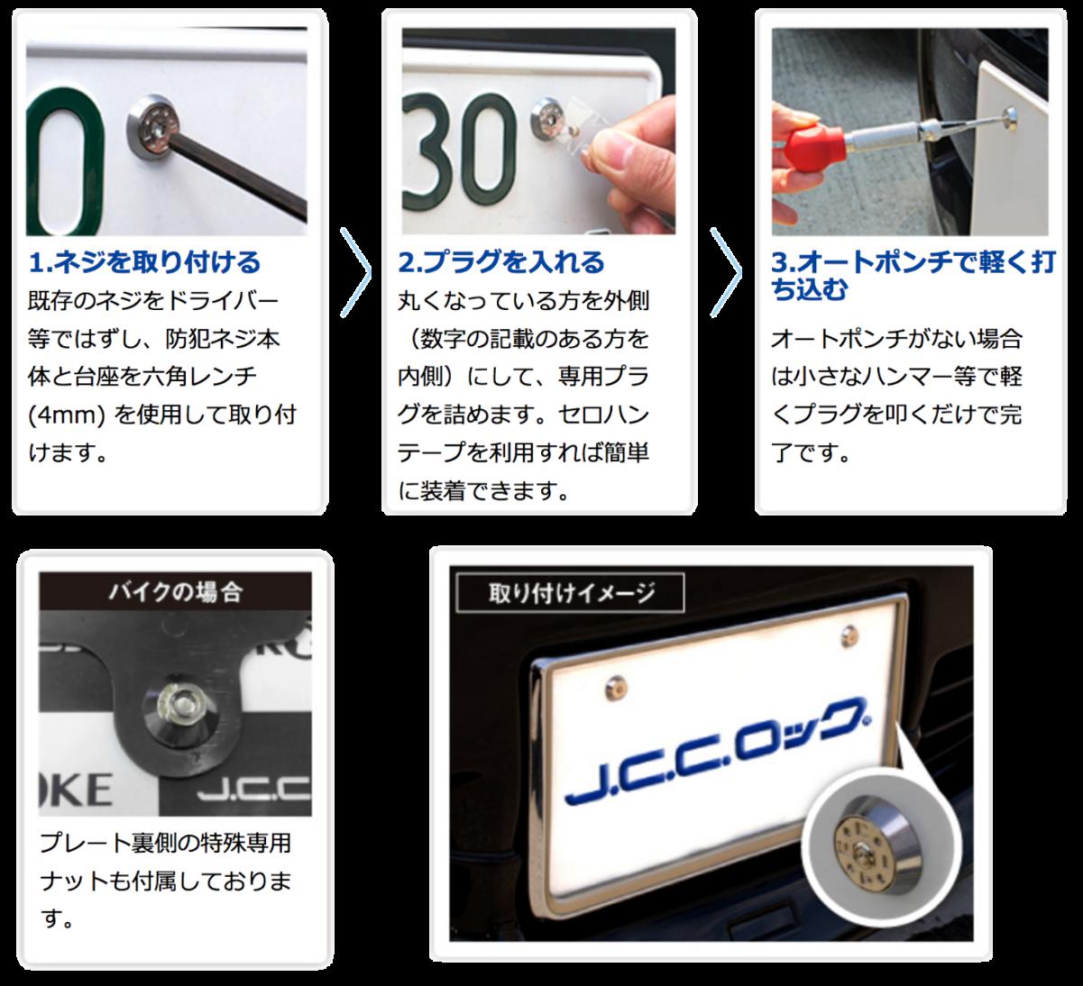 「JCCロック」取り付け方法